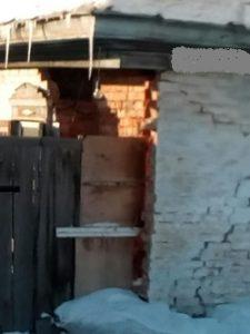 обрушение угла дома